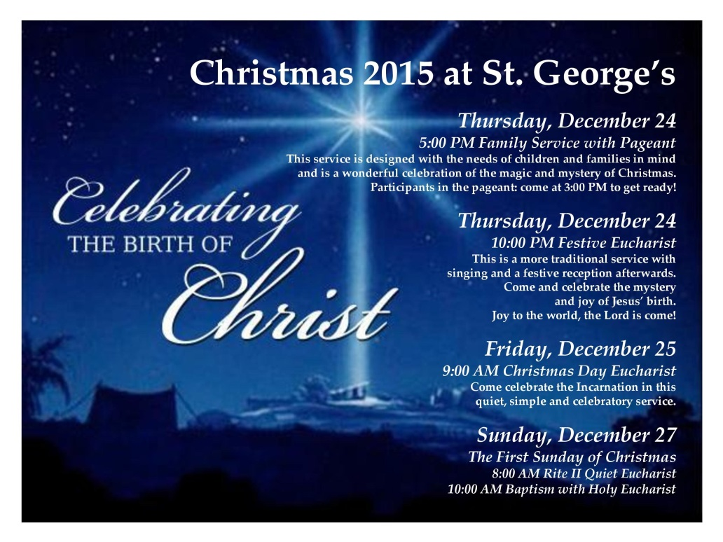 Christmas 2015 at StGeo
