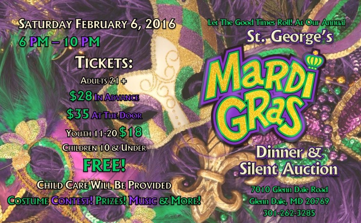 St. George's Mardi Gras Dinner & Silent Auction 2016